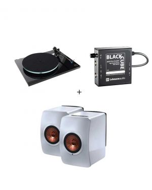Pack Rega Planar 3 + Lehman Black Cube + Kef LS50 Wireless Blanc