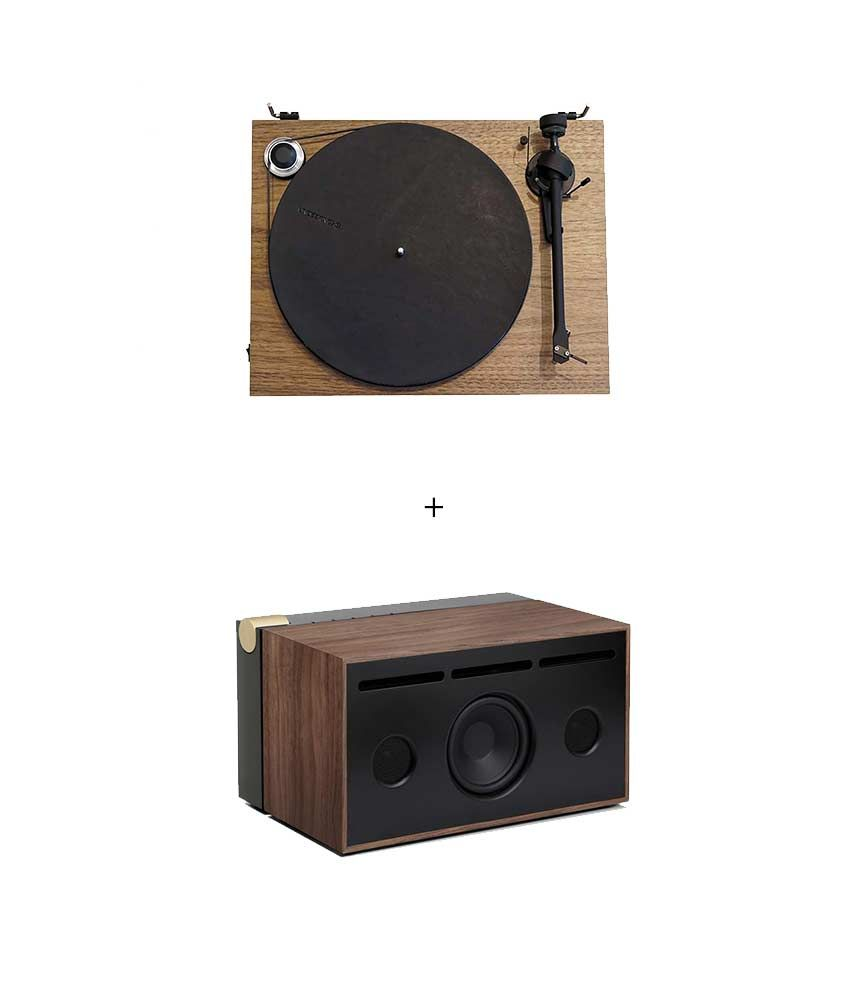 RetroFutur - Pack Project Essential III Phono Noyer + Enceinte La Boite Concept PR/01