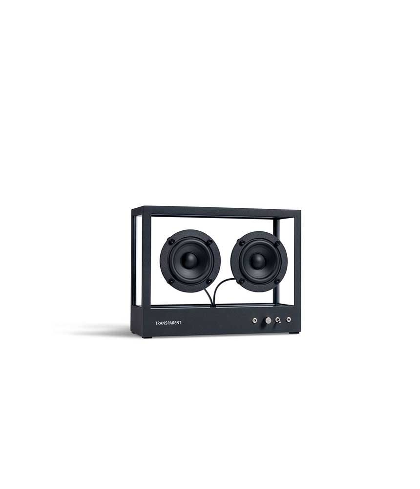 Transparent - Small Transparent Speaker Black