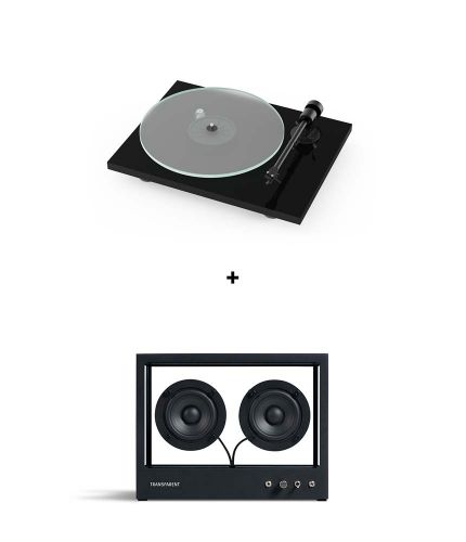 RetroFutur - Pack Pro-Ject T1 BT + Small Transparent Speaker