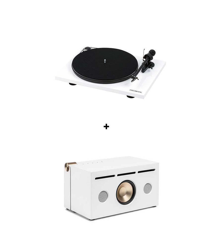 RetroFutur - Pack La Boite Concept PR01A + Pro-Ject Essential III Phono White