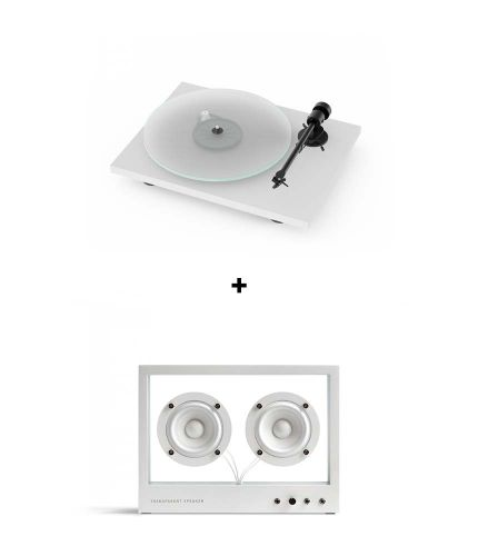 RetroFutur - Pack Pro-Ject T1 BT + Small Transparent Speaker