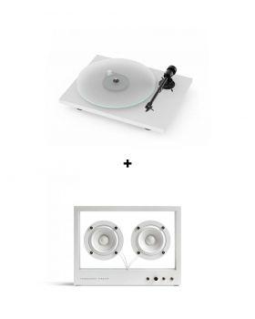 Pack Platine vinyle Pro-Ject T1 BT + Enceinte Small Transparent Speaker