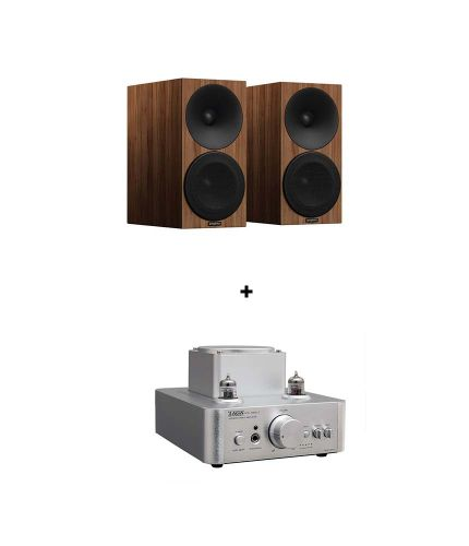 RetroFutur - Pack Taga HTA-700B V3 USB + Amphion Helium 510 Noyer