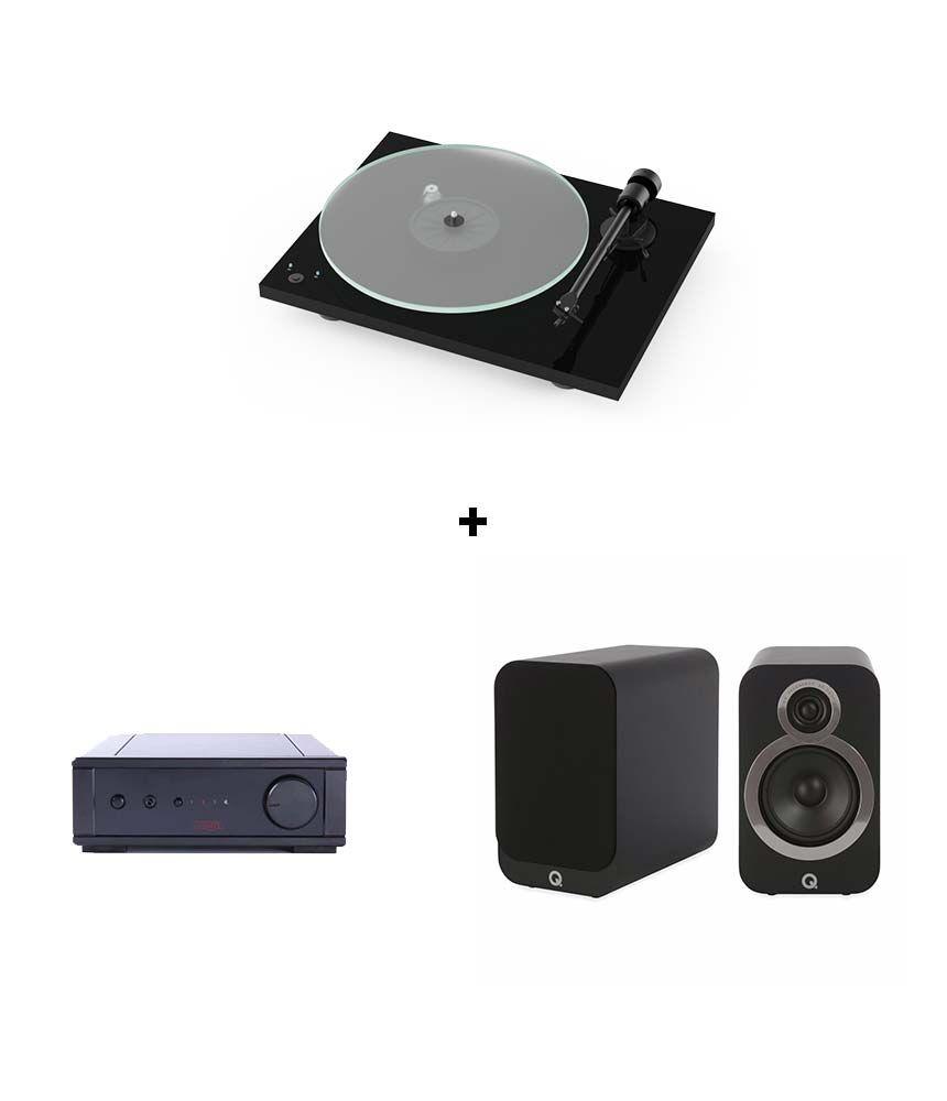 RetroFutur - Pack Pro-Ject T1 + Rega IO AMP + Q-Acoustics 3020i
