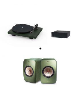 Pro-Ject Debut Carvon EVO + Phono Box S2 + KEF LSX
