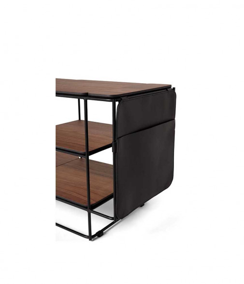 La Boite Concept - Kit 3 accessoires en cuir pour meuble Lines